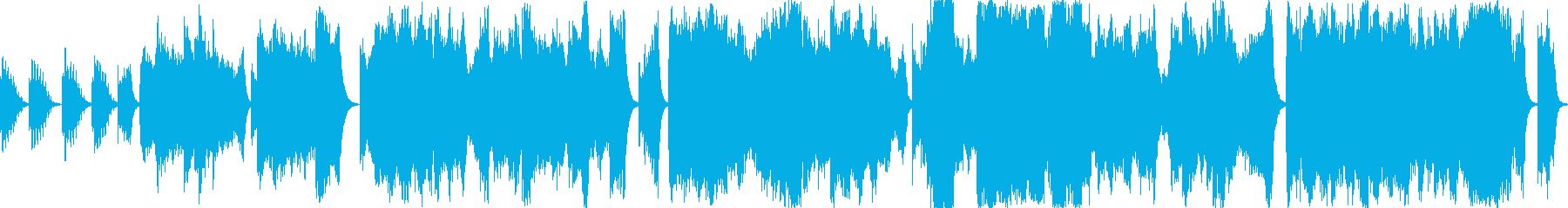 恐怖・緊張感を演出する音響的なBGMの再生済みの波形
