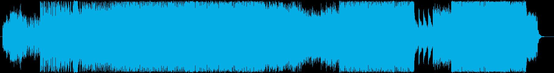音ゲー風スピードコアの再生済みの波形