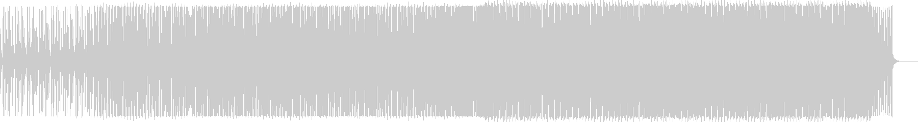 メロディアスなシンセフレーズのハウス曲の未再生の波形