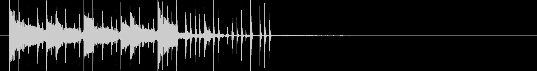 電子音がコロコロ転がっていくような音の未再生の波形
