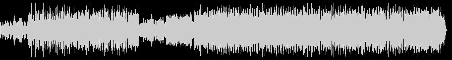ピアノとストリングスのアンビエント作品の未再生の波形