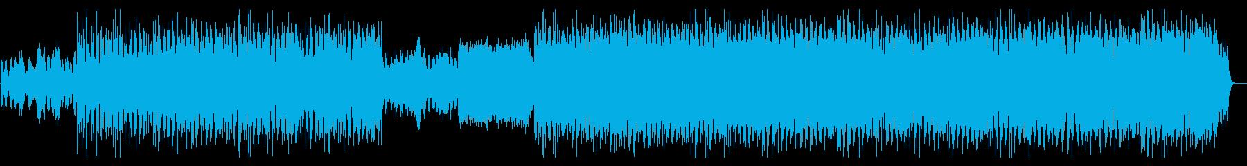 ピアノとストリングスのアンビエント作品の再生済みの波形