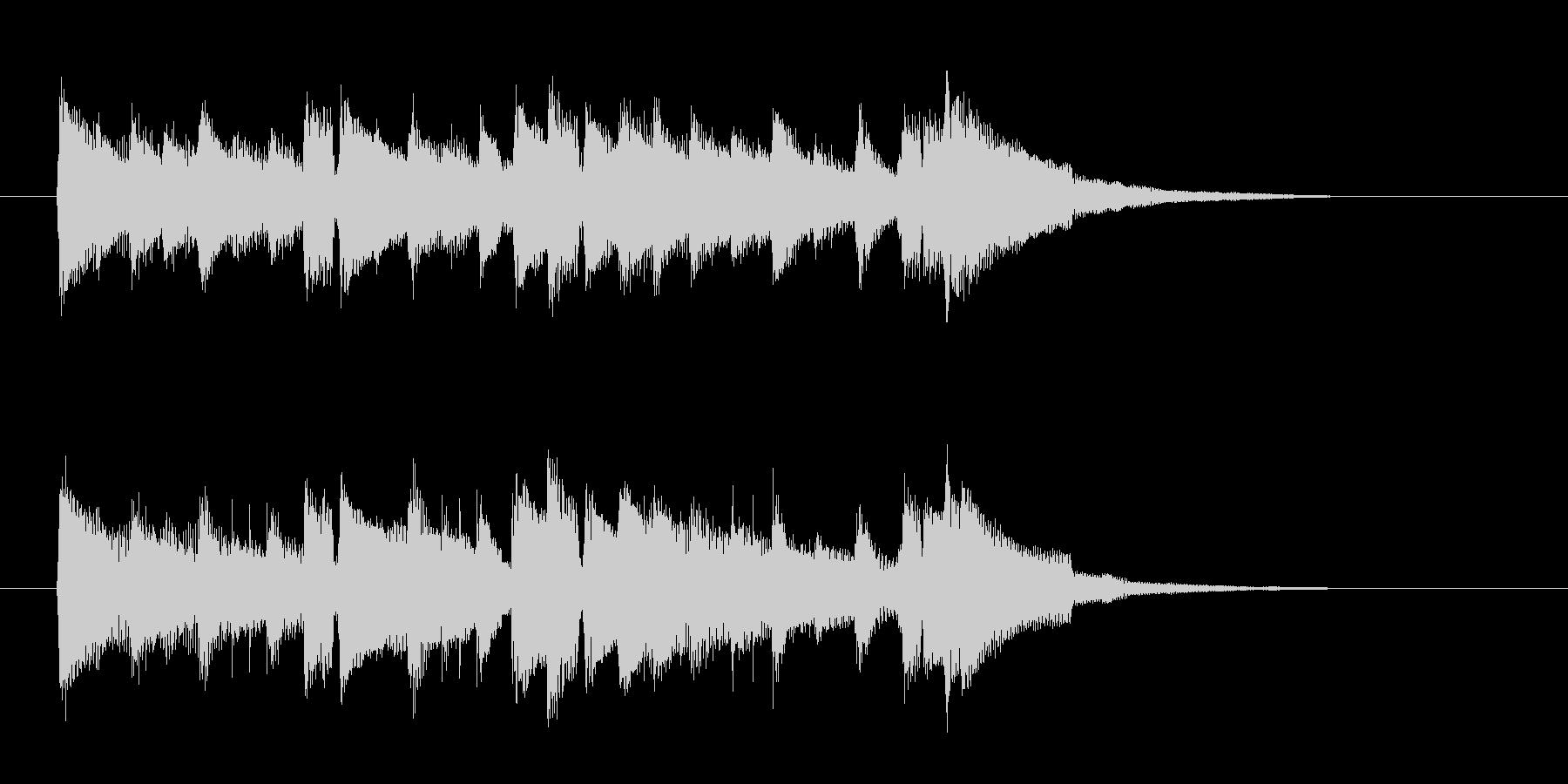 アコギによる優しい雰囲気のジングル曲の未再生の波形