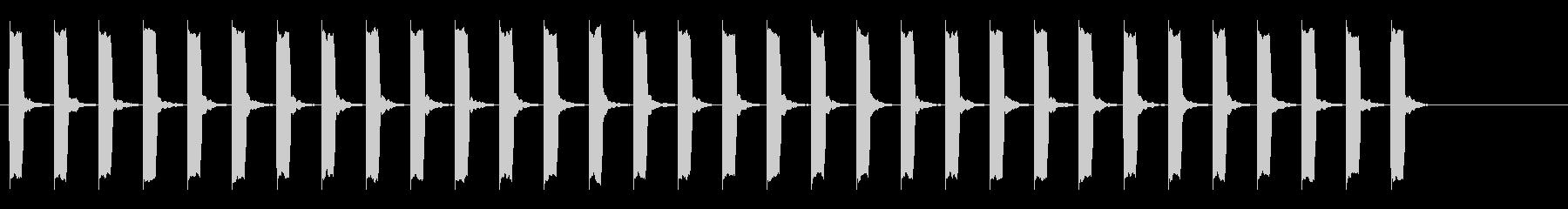 心電図の音-2-9(BPM120)の未再生の波形