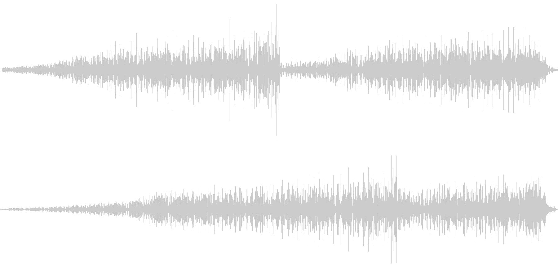 ホラーの緊迫状態を表すBGMの未再生の波形