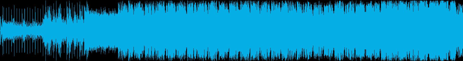 音ゲー風Drum'N'Bassの再生済みの波形