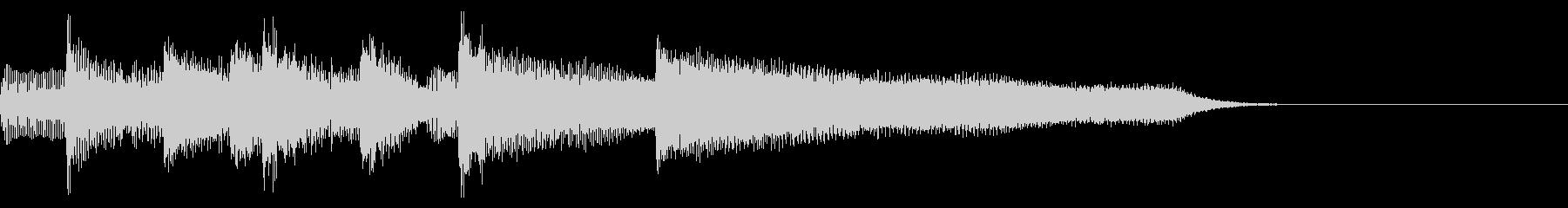 ブルージーなピアノジングルの未再生の波形