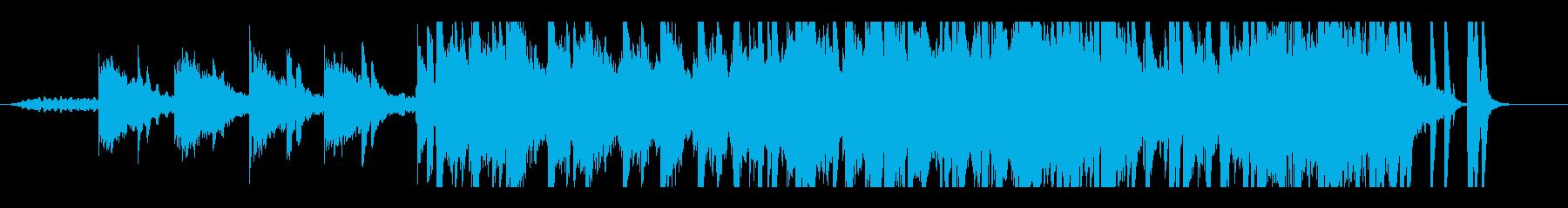 幻想的でリラックスしたヒーリング音楽の再生済みの波形