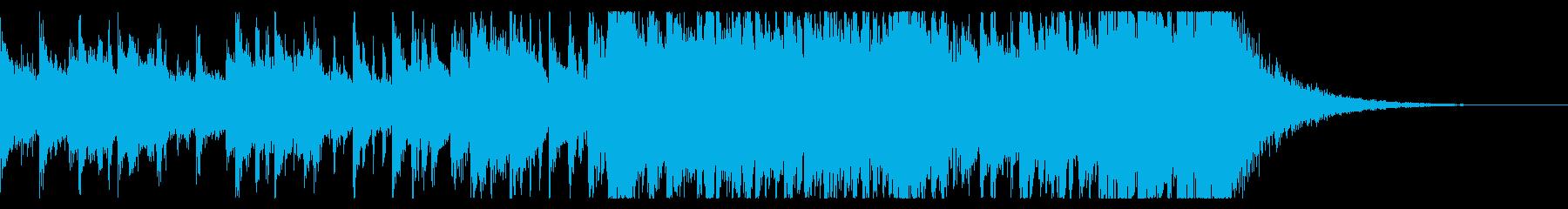 四つ打ちとピアノ☆一瞬で駆け抜ける8小節の再生済みの波形
