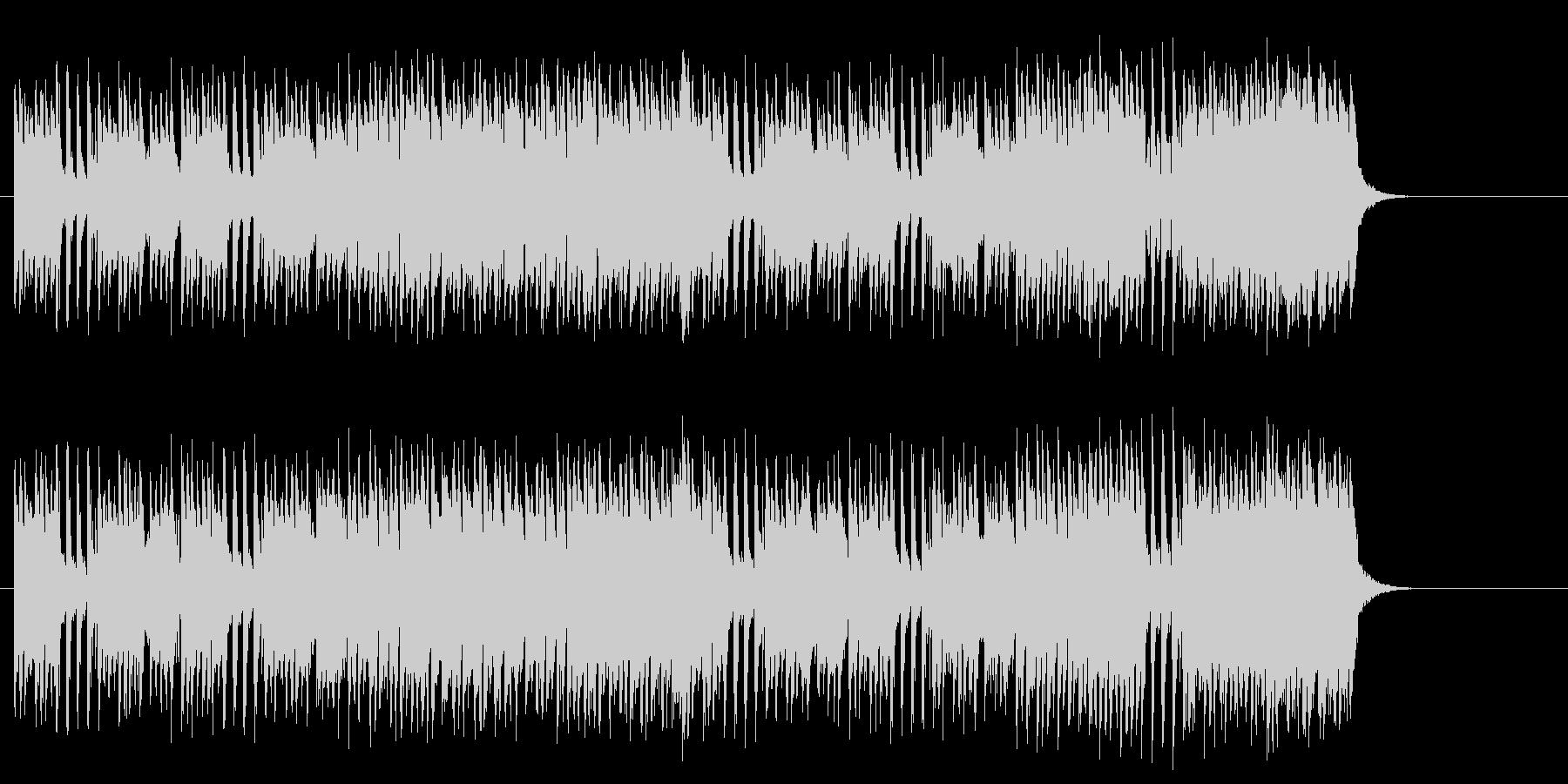 賑やかなコミカル・サウンドの未再生の波形