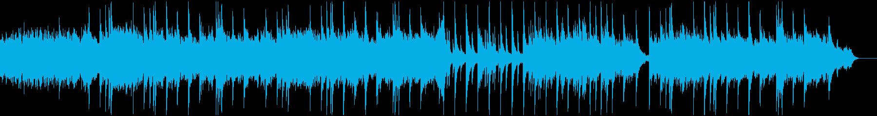 ピアノとシンセサイザーによるヒーリング曲の再生済みの波形