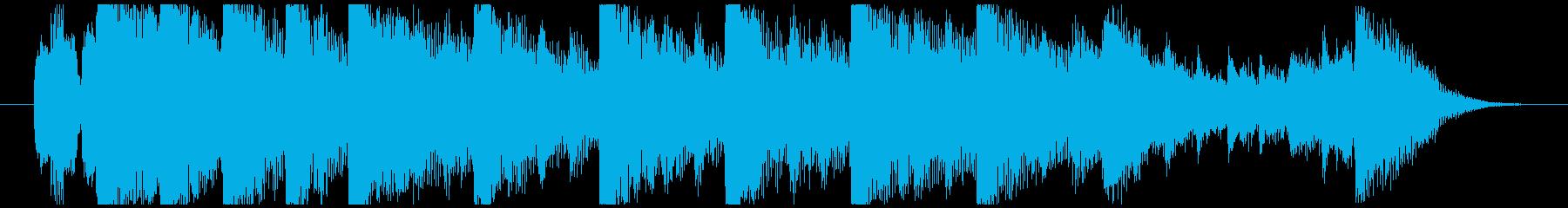 ハローウィン用のホラー曲-15秒の再生済みの波形