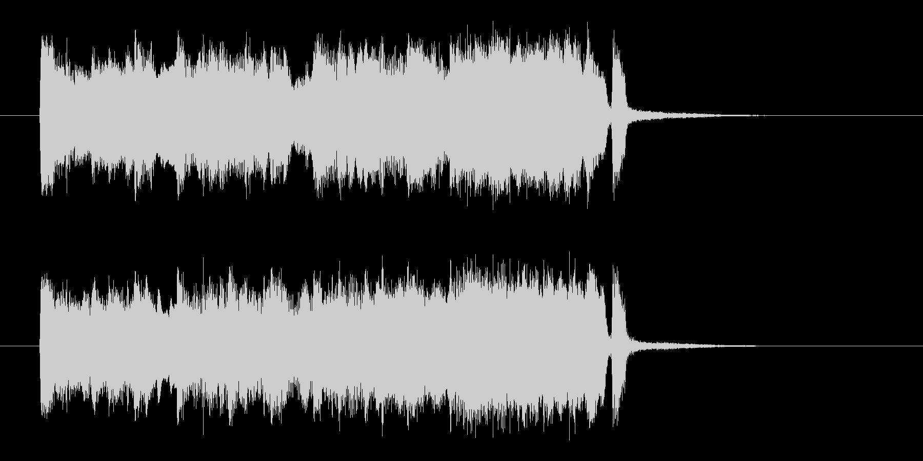 ブラス中心の陽気なジングルの未再生の波形