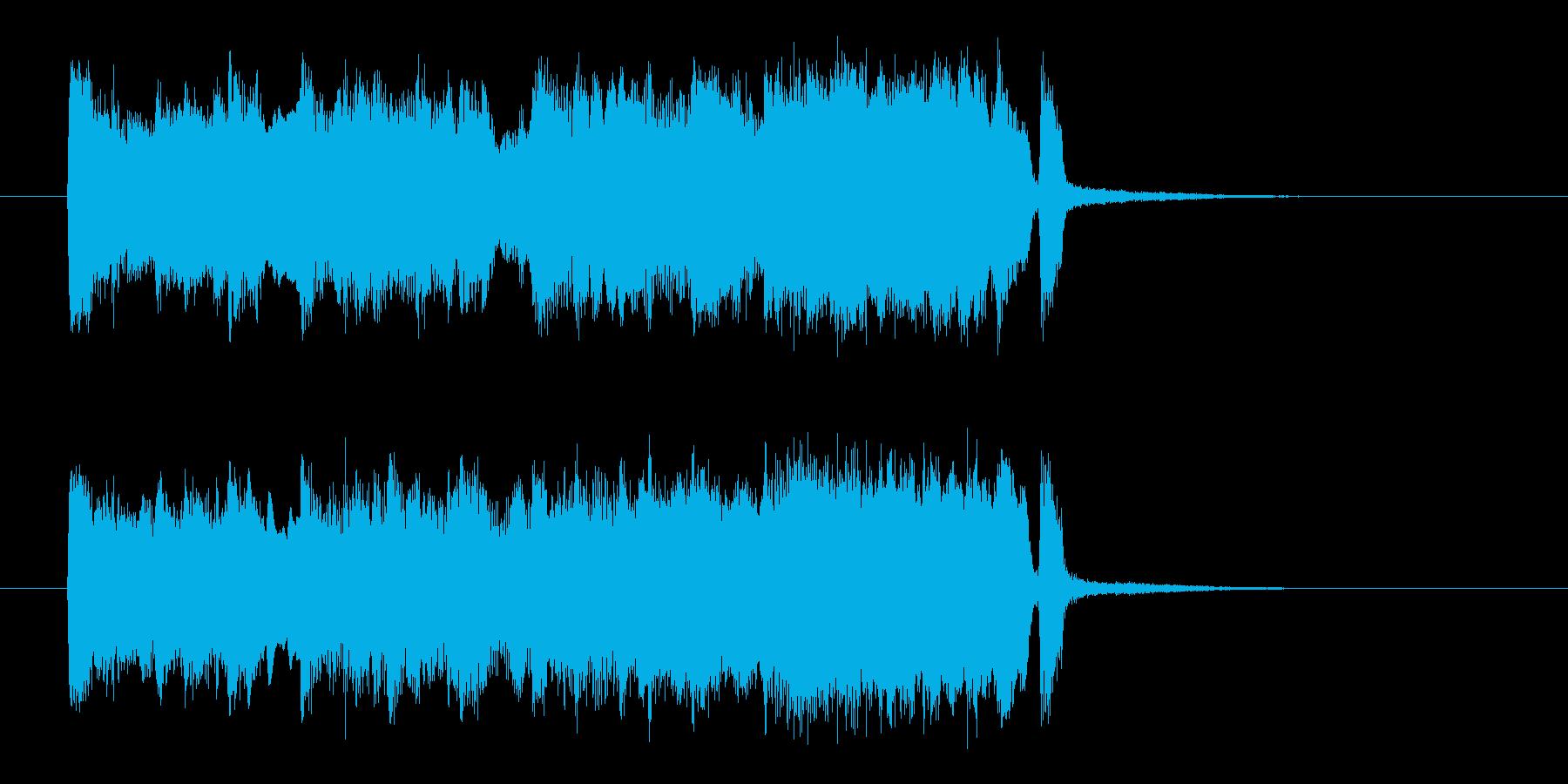 ブラス中心の陽気なジングルの再生済みの波形