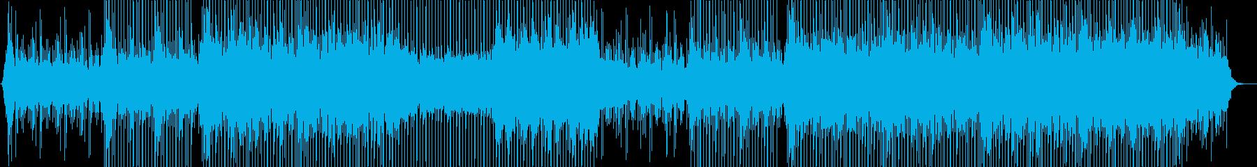 アップテンポで前向きなコーポレートBGMの再生済みの波形
