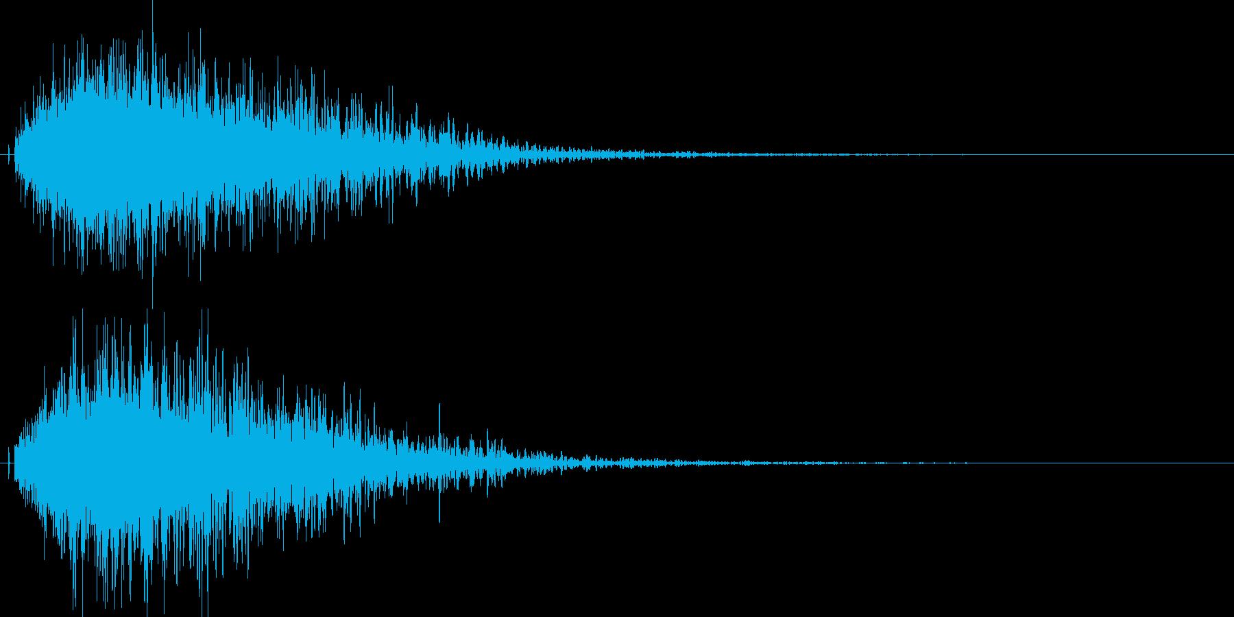 シャキーン!特殊魔法や光に最適な効果音3の再生済みの波形