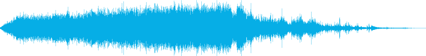 【生録音】駅のホームから電車が走り去る音の再生済みの波形