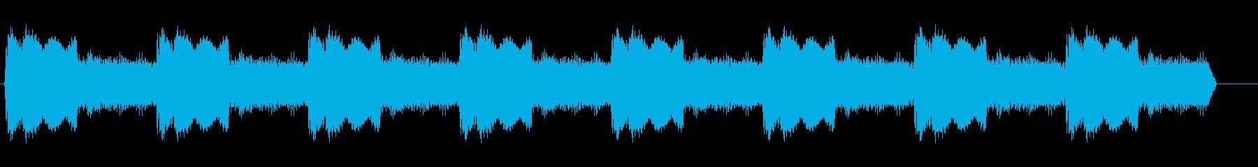 カンカンカンカン (警告音)の再生済みの波形