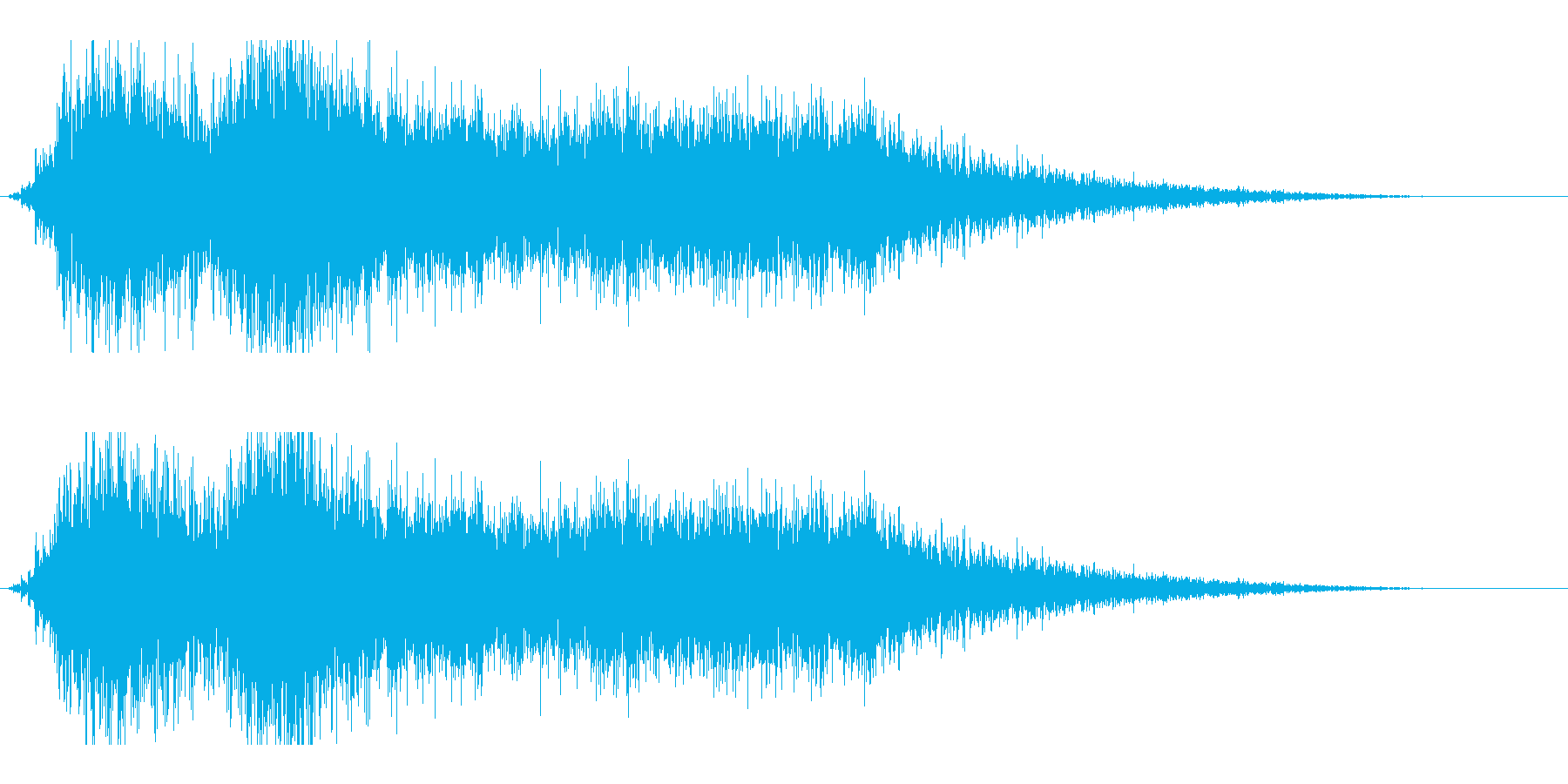 バヒューン2の再生済みの波形