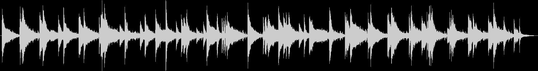 遅いテンポのジャズ・ピアノトリオの未再生の波形