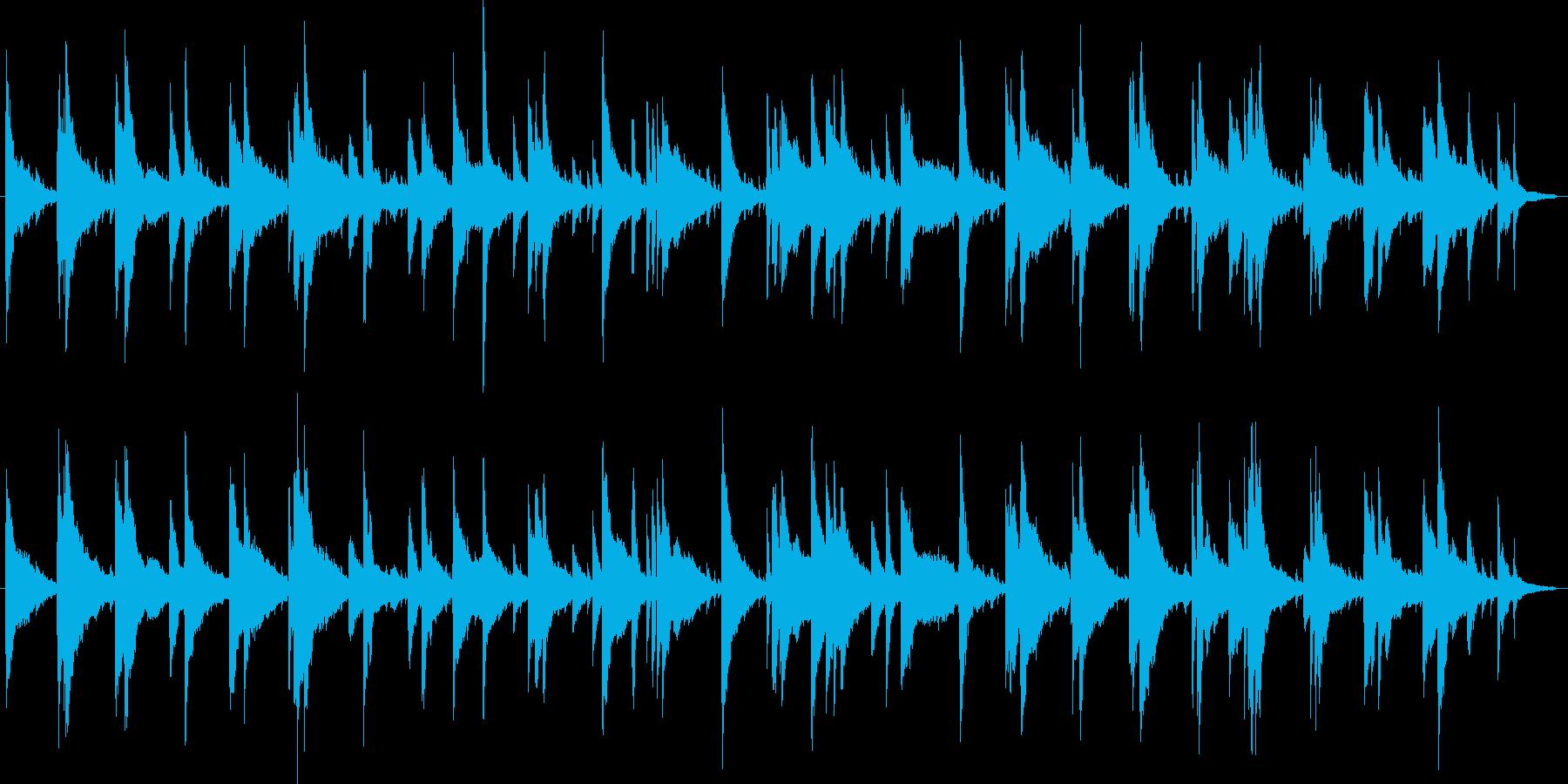 遅いテンポのジャズ・ピアノトリオの再生済みの波形