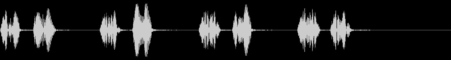 心臓の鼓動,心音の効果音,ドキドキの未再生の波形