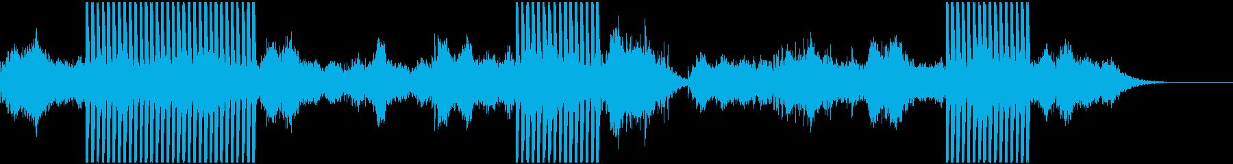 (ストリング)見えない力に導かれる様子の再生済みの波形