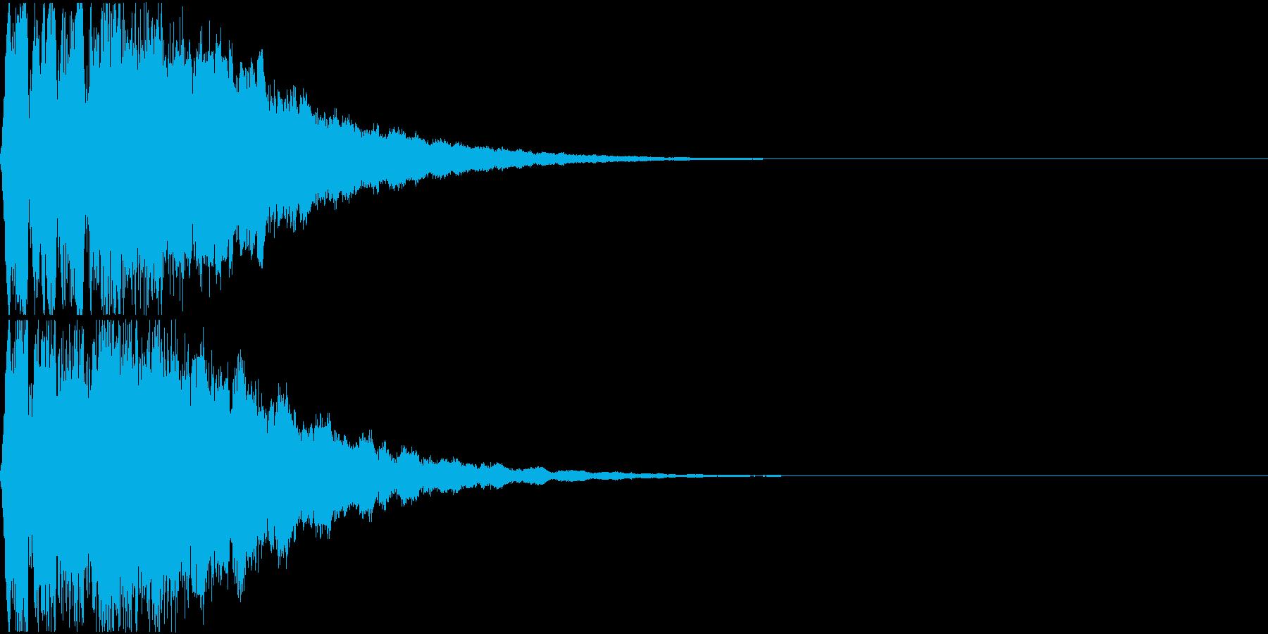 キュイン ギュイーン シャキーン 03の再生済みの波形