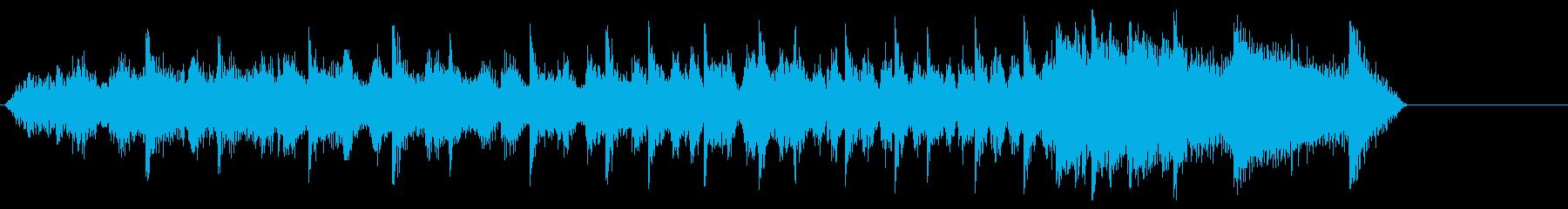 音楽効果;起動、再生、停止の長いア...の再生済みの波形