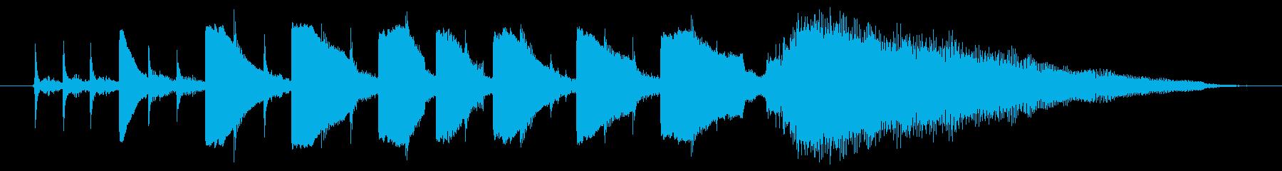 海外ドラマ風 エレキギターミュートコードの再生済みの波形