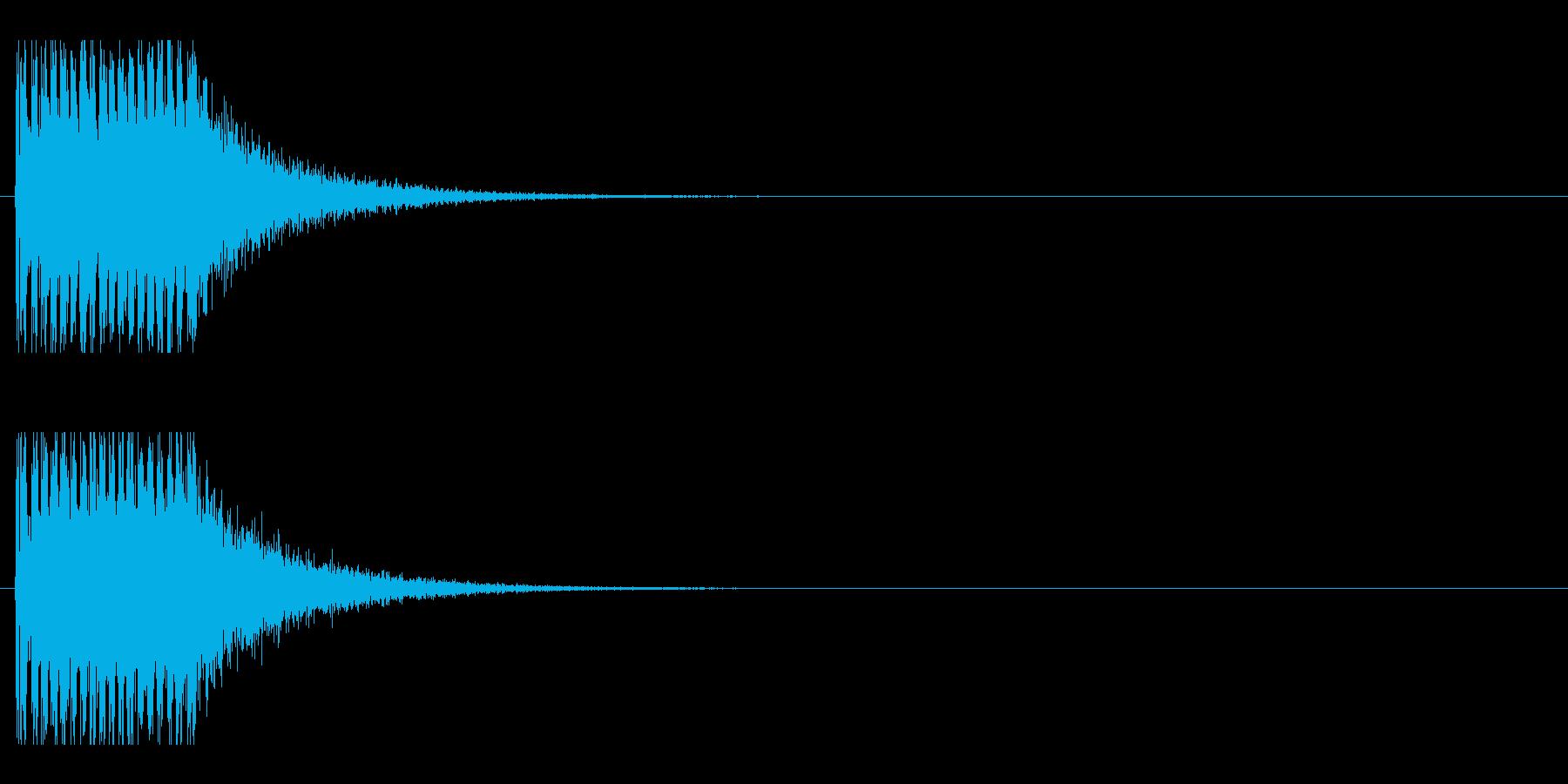 レーザー音-151-1の再生済みの波形