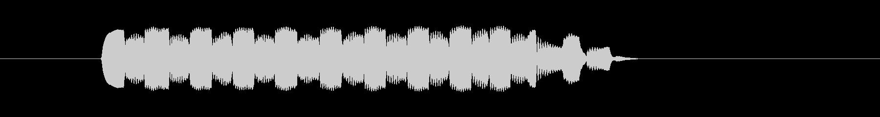 生演奏リコーダーで単音トリルの未再生の波形