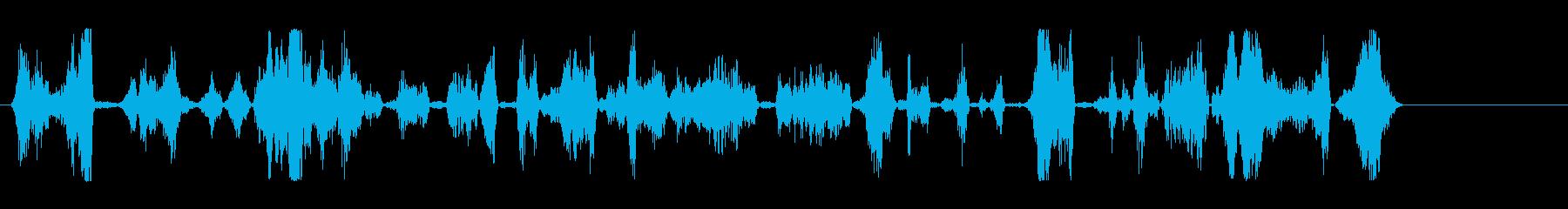 処理された悪質な犬のうなり声。低頻度。の再生済みの波形