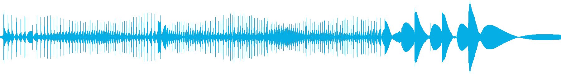 レコード針が横にすれた時の音の再生済みの波形