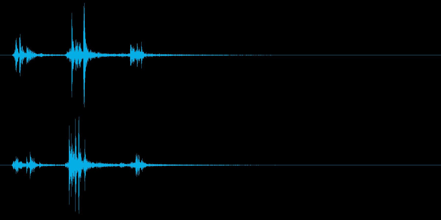 【カチャッ】扉の鍵をかける音【施錠】の再生済みの波形