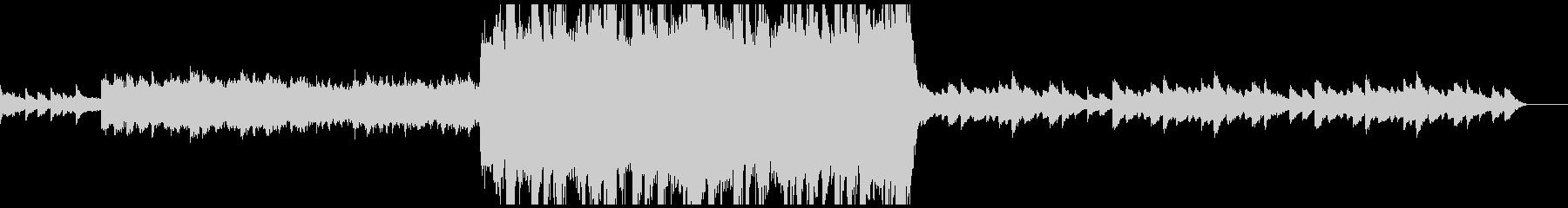 壮大なスケールのエンディング風BGMの未再生の波形