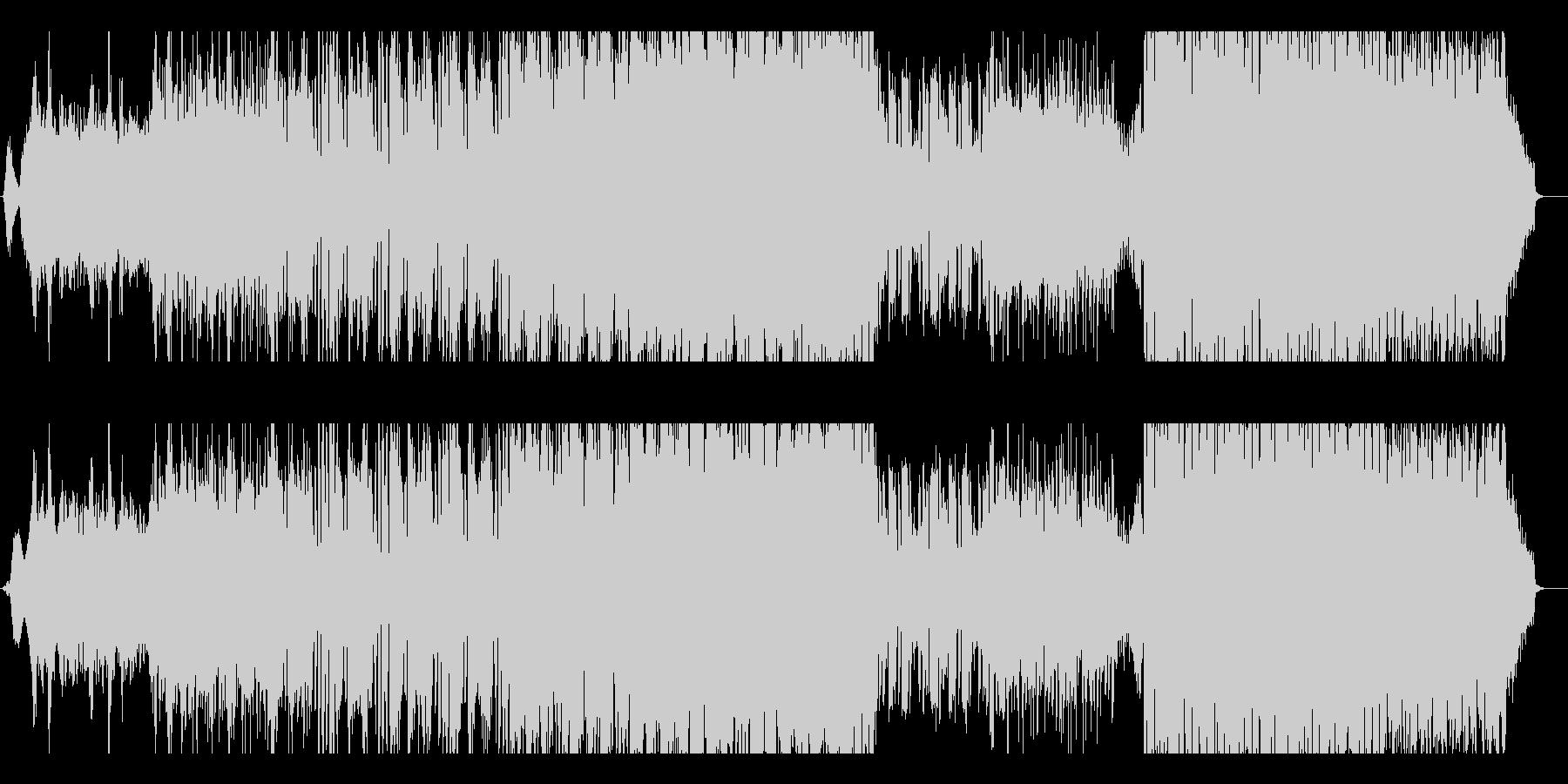 ピアノの旋律が印象的で少しダークなEDMの未再生の波形