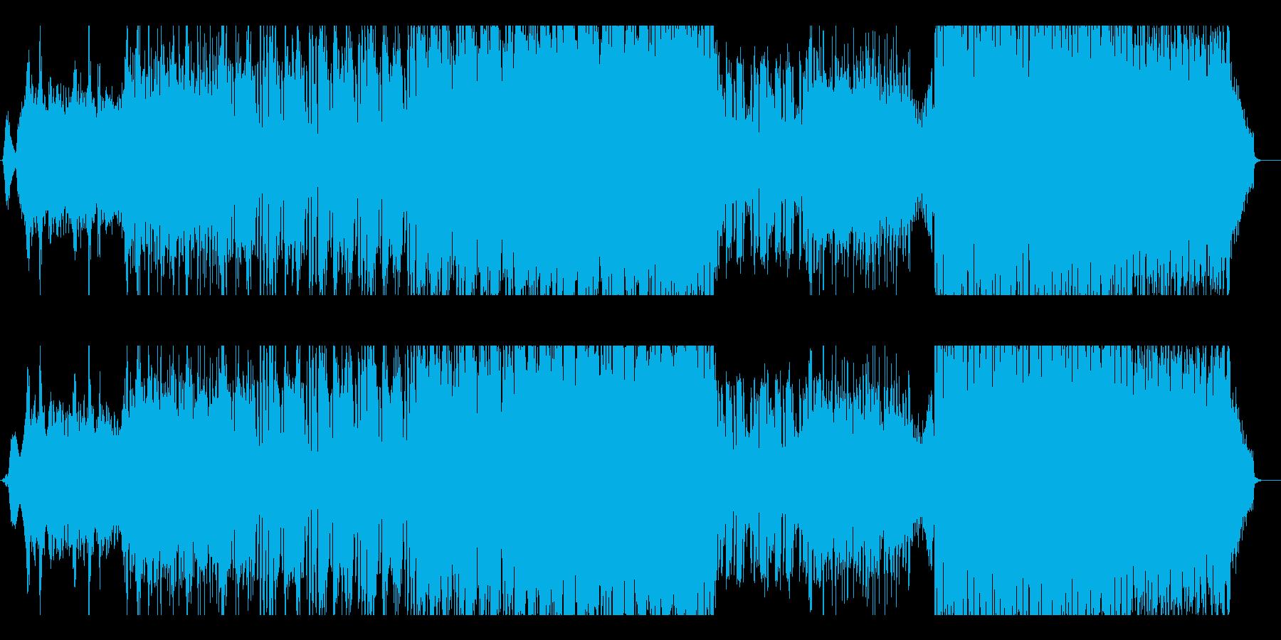 ピアノの旋律が印象的で少しダークなEDMの再生済みの波形
