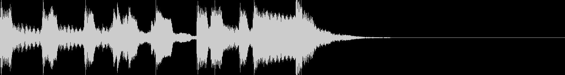 和風三味線ジングル其の六十二笛と鼓の未再生の波形