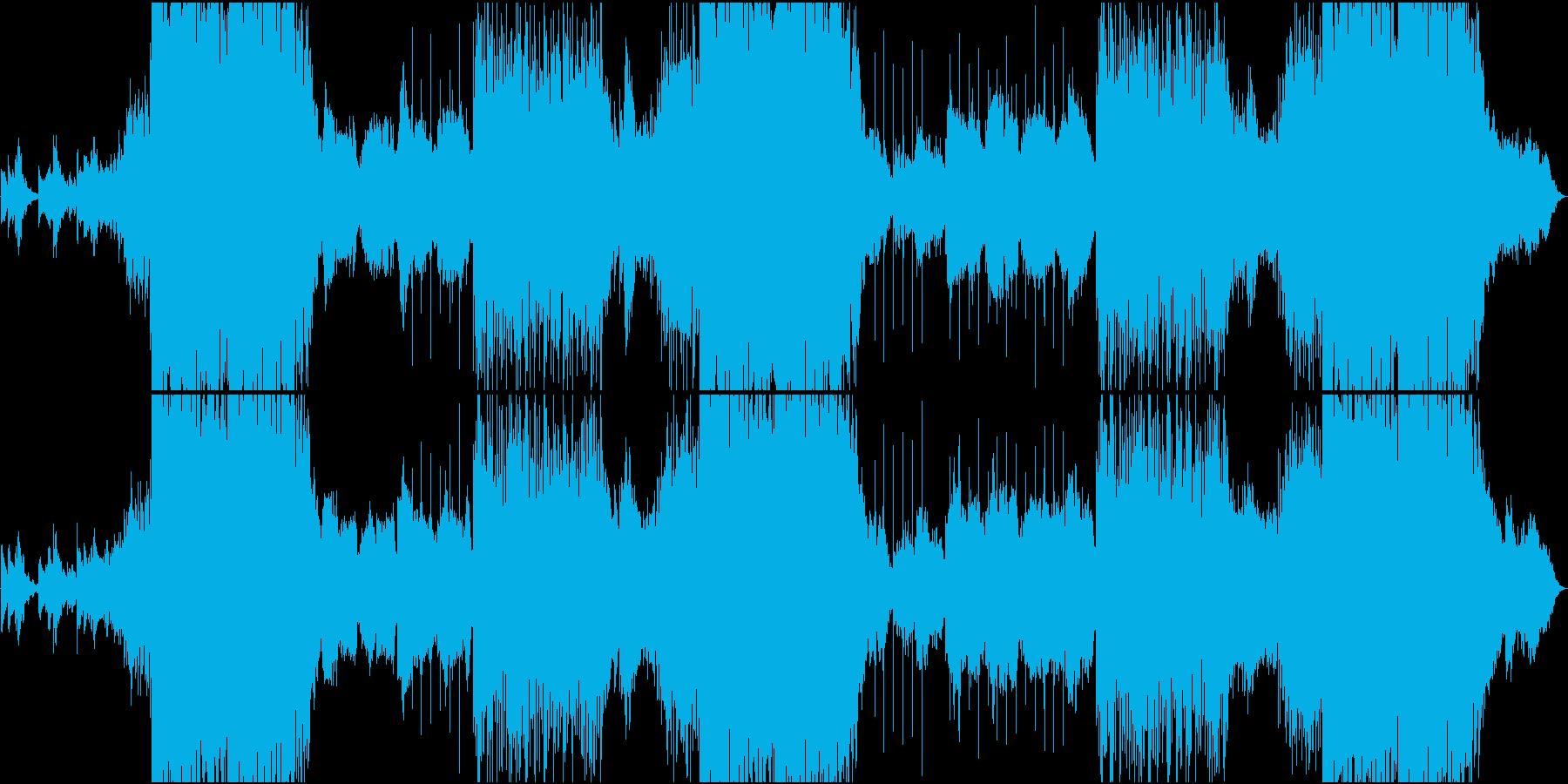 EDM静・動が交錯する切ないメロの楽曲の再生済みの波形