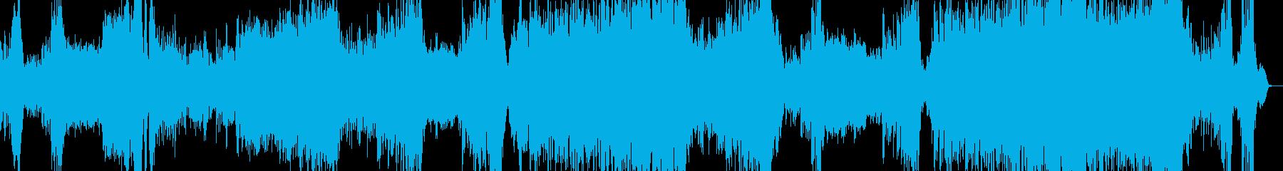 アニメや劇判の劇的で壮大なテーマ曲の再生済みの波形