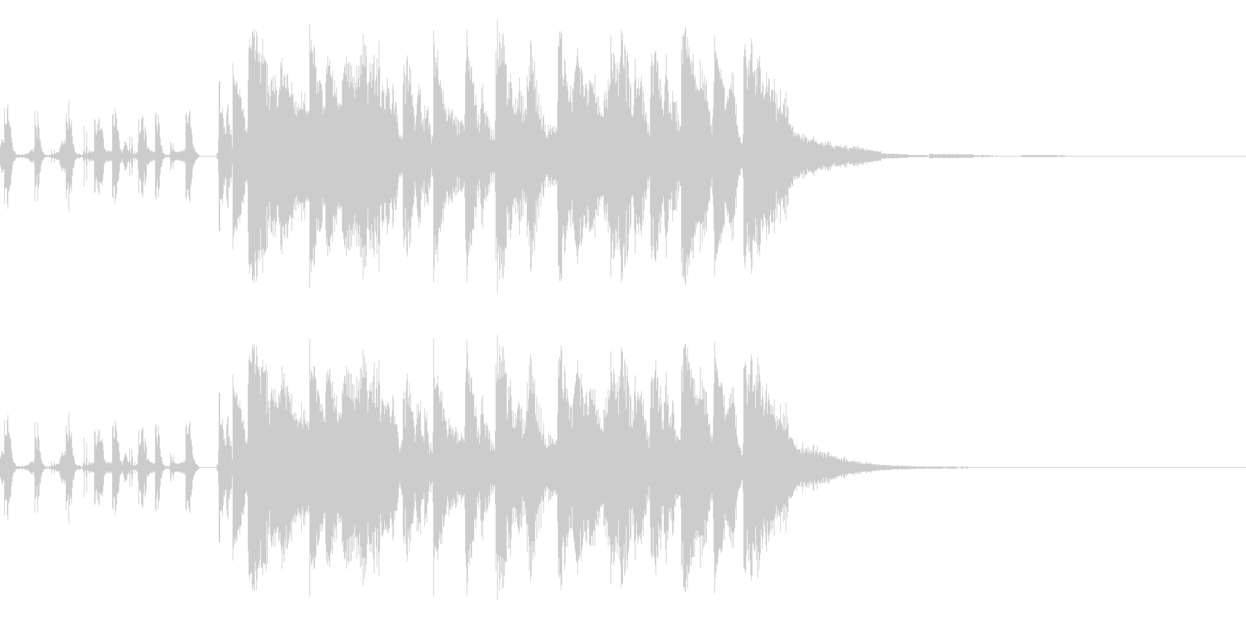 アイワンダーの未再生の波形