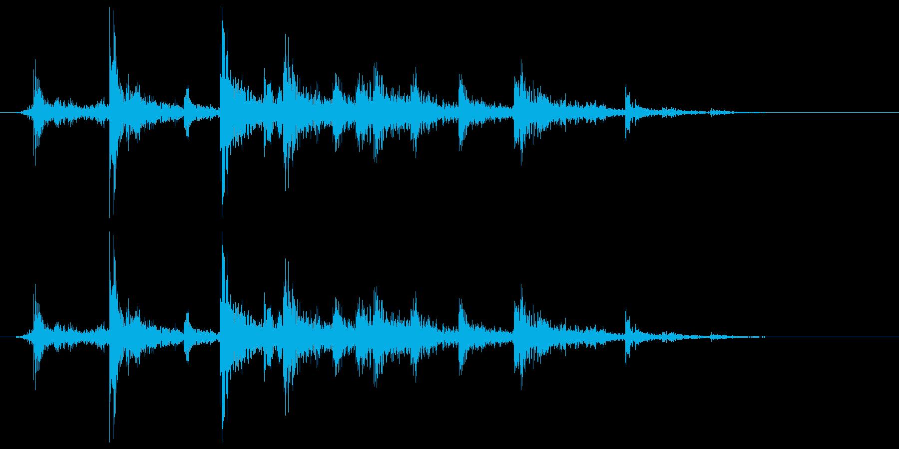 シンクに水をチョロリと流す音の再生済みの波形