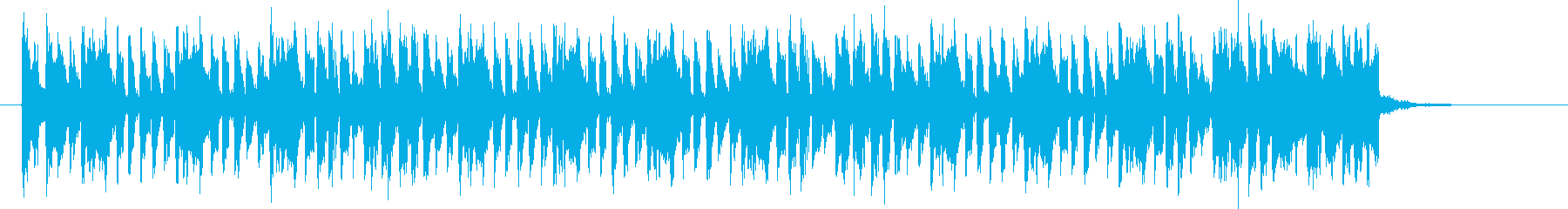 テンションアップな明るい音楽の再生済みの波形