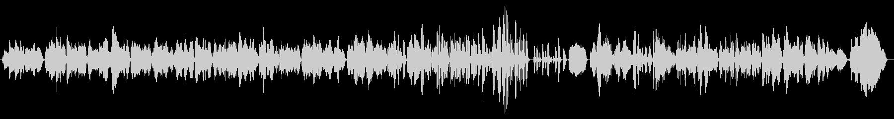 のんびり和やかクラシック風フルート3重奏の未再生の波形