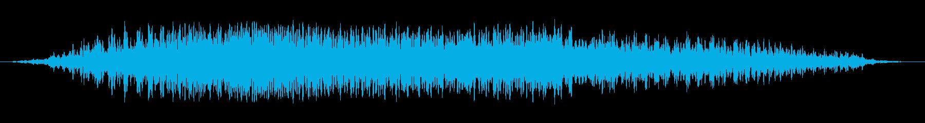 悪魔のうなり声2の再生済みの波形