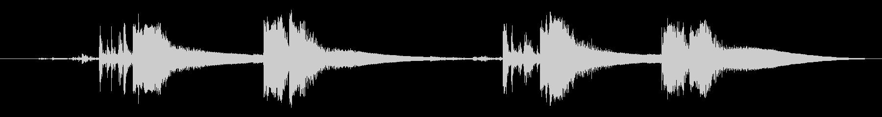 ガンコッキングの未再生の波形