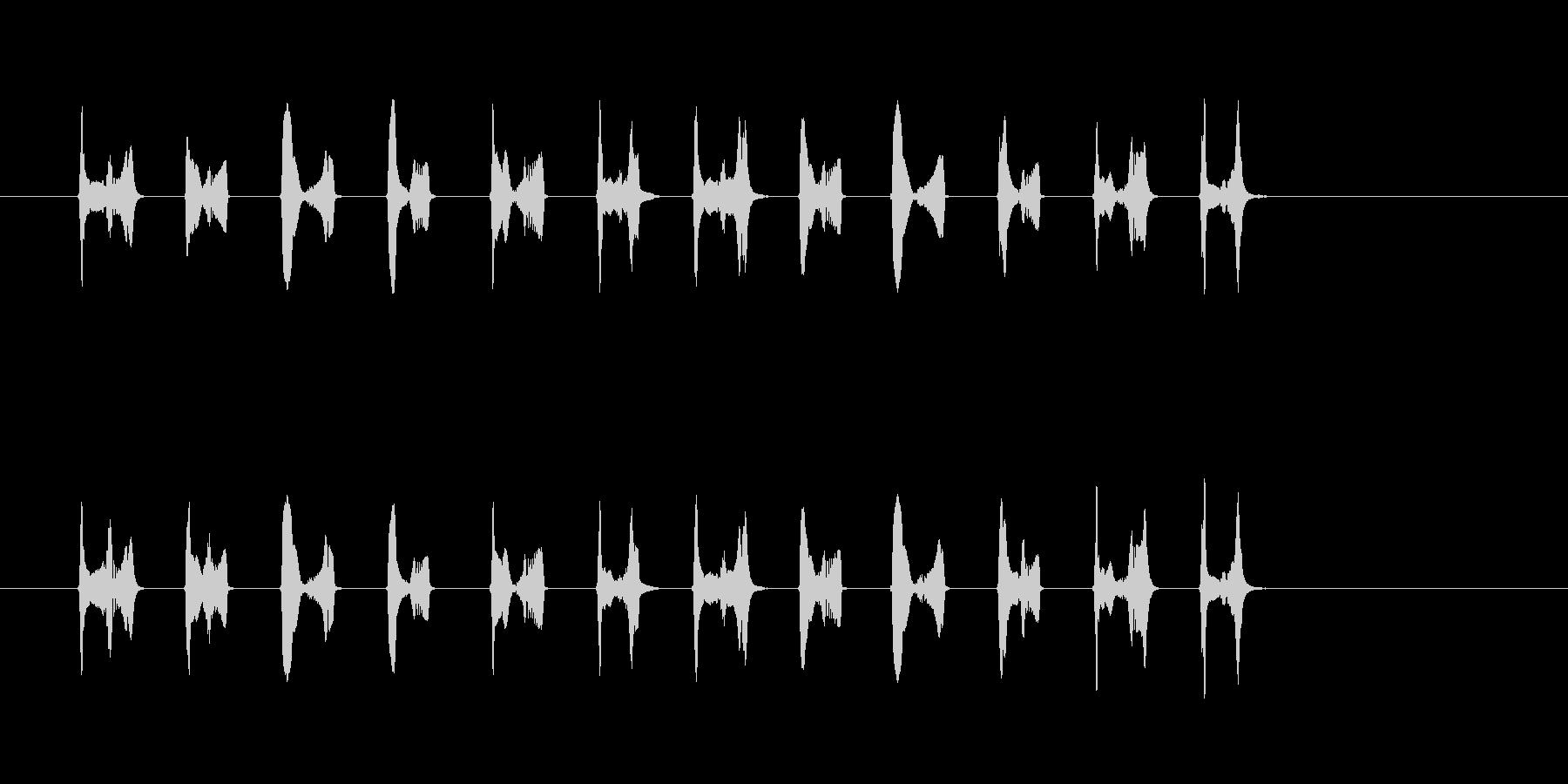 かわいいキャラ移動音(足音)の未再生の波形