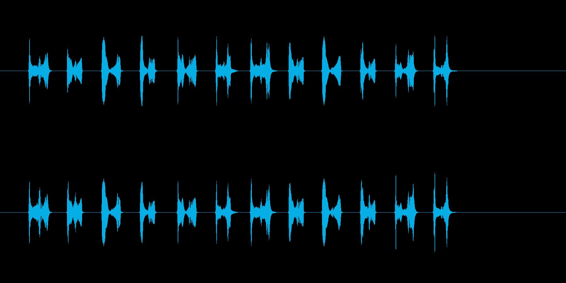 かわいいキャラ移動音(足音)の再生済みの波形