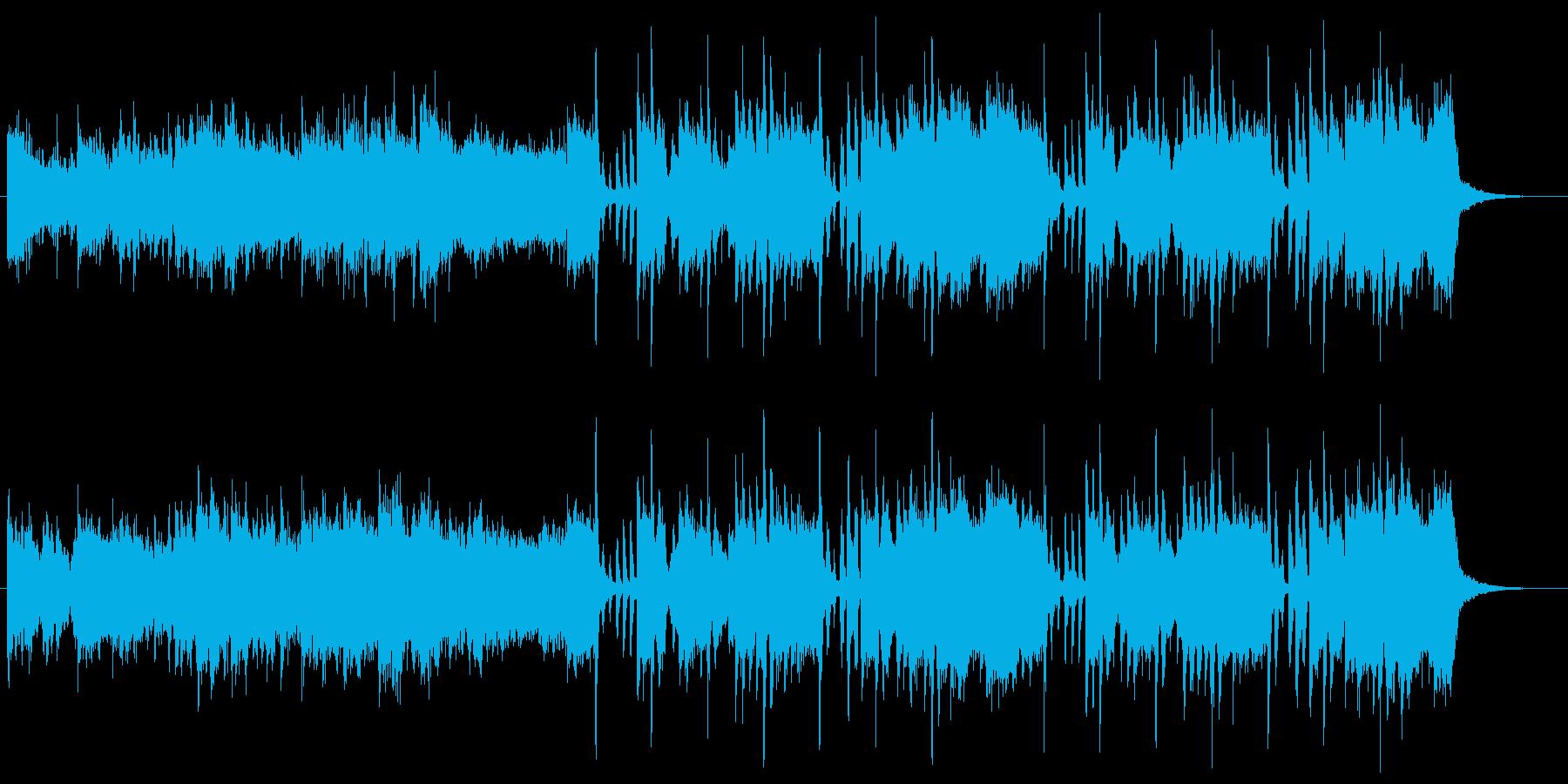 少しリズムのとりにくい変則ビートの再生済みの波形